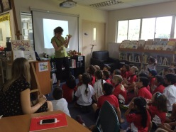 Author visit in space