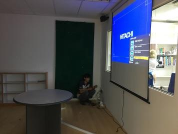New classroom projector installation